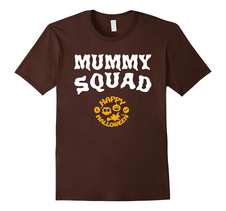 Mummy Squad Funny Halloween T-Shirt-RT