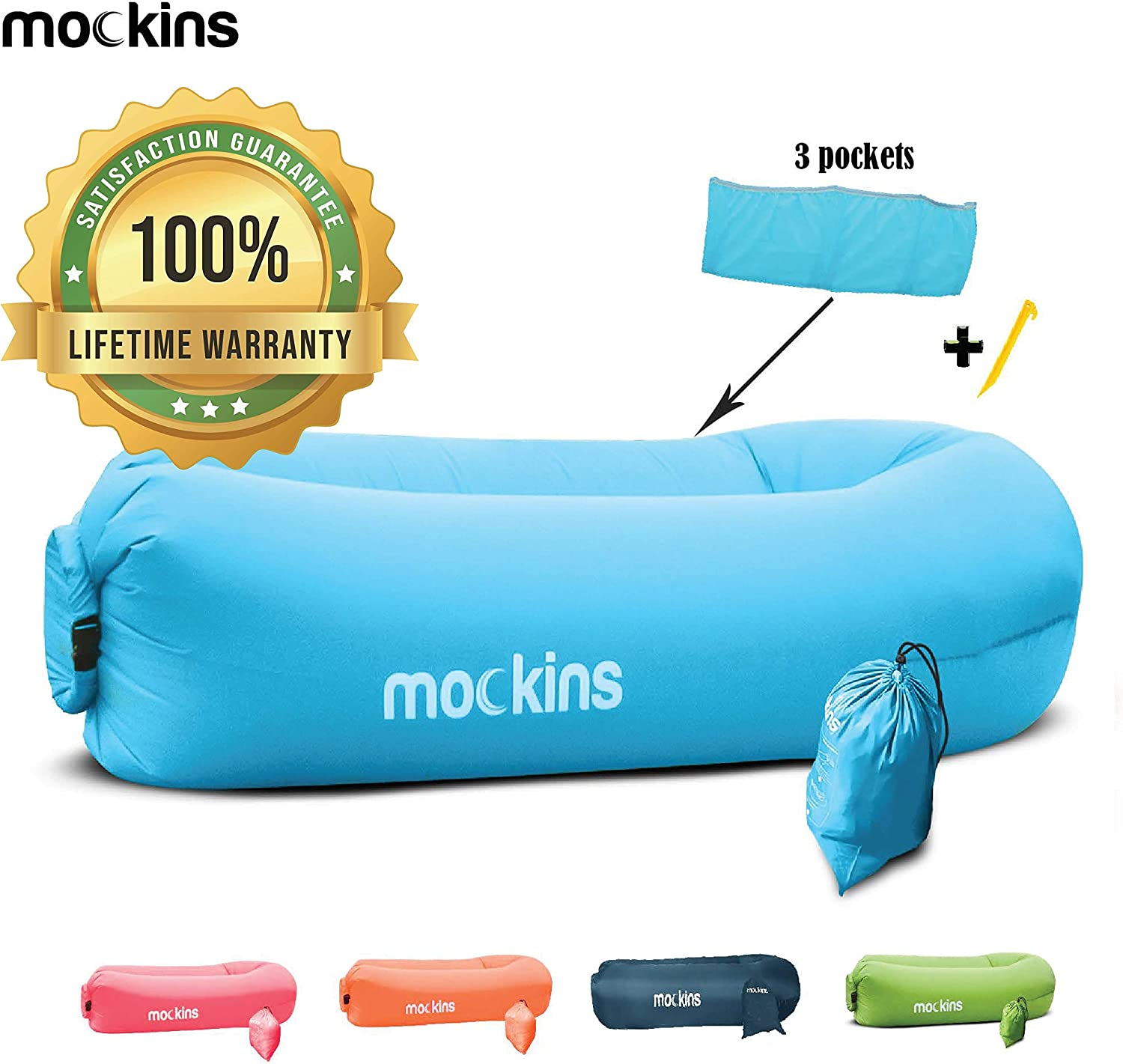 Amazon.com: Mockins Inflatable Lounger Air Sofa Perfect for ...