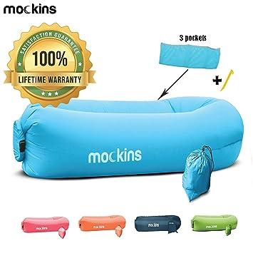 Amazon.com: Mockins - Tumbona hinchable para colgar en el ...