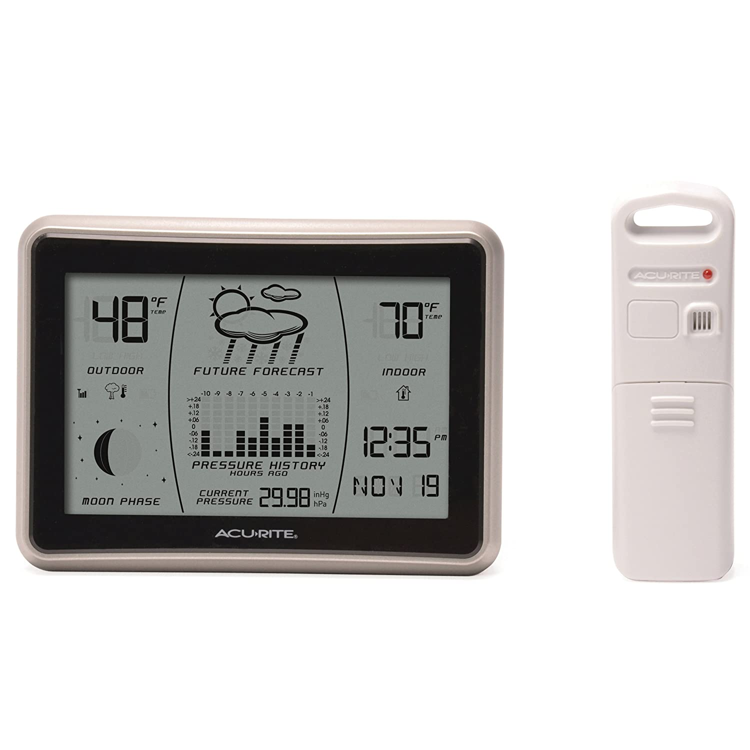 AcuRite 00621 Wireless Weather Forecaster with Intelli-Time
