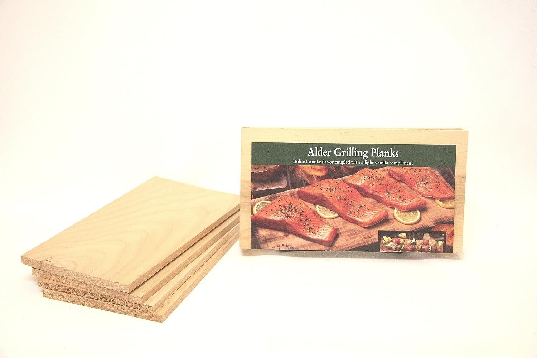 Nature's Cuisine NC005-410 10-Inch x 5.5-Inch Alder Grilling Planks, 4 per pack (Wood) Nature' s Cuisine