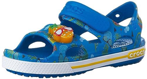 809f87216858 crocs Kids Unisex CB II Pineapple LED Ultramarine Sandals - C5 (202823-4GL)
