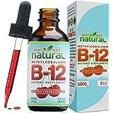 Organic Vitamin B12 Liquid - Extra Strength 60 x 5000mcg Drops (Methylcobalamin), w/ Natural Cherry Flavor | Designed to Maxi