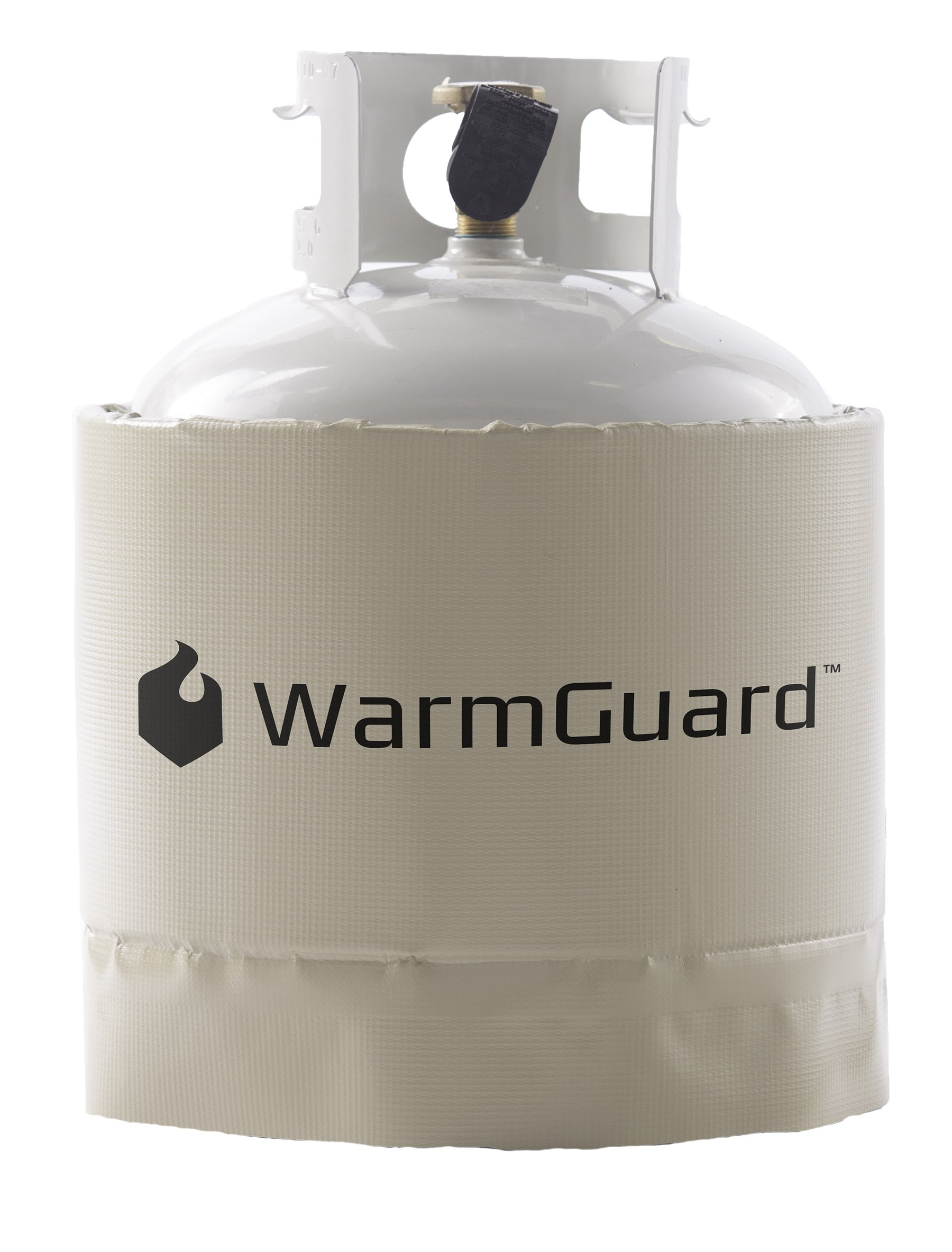 WarmGuard WG20 Insulated Band Style Gas Cylinder Warmer - Propane Heater, Fits 20, 30 & 40lb Gas Tanks, Fixed Internal Thermostat Max Temp 90 F