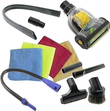 Spares2go coche Valet Turbo piso cepillo Flexible boquilla para tapicería, Kit, para Karcher aspiradora (32 mm/35 mm): Amazon.es: Hogar