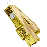 Juvale Small Number 4 Gold Foil Pinata, Fourth