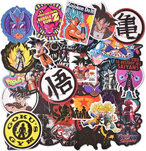 Vinyl Computer Waterproof Water Bottles Skateboard Luggage Decal Graffiti Patches Decal Anime Dragon Ball Laptop Stickers 100pcs Pack
