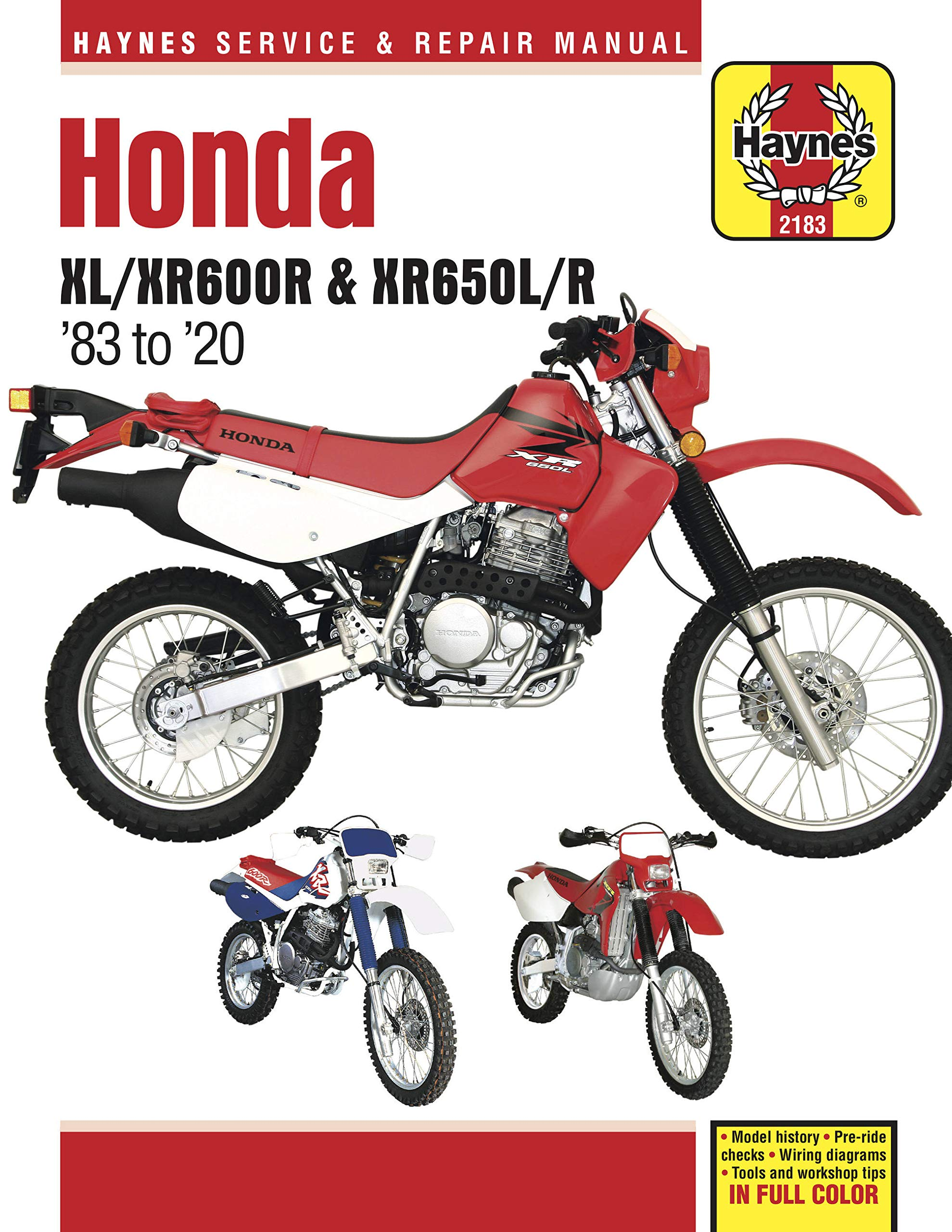Honda XL/XR40R & XR40L/R   Model history   Pre ride checks ...