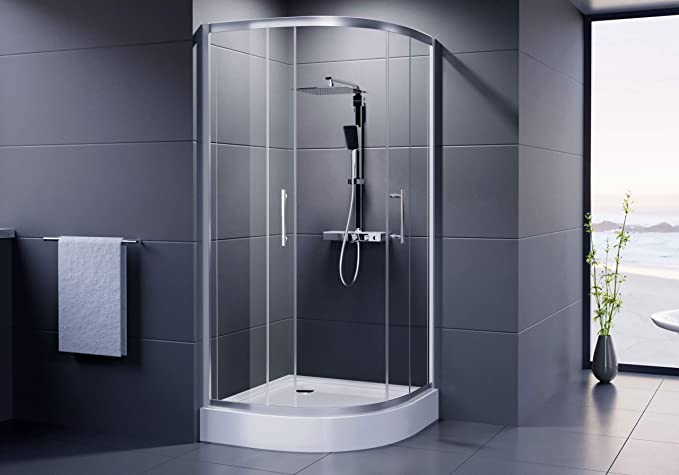 Dusar cabinas de ducha Economy redondo ducha 90 x 90 x 185 cm ...