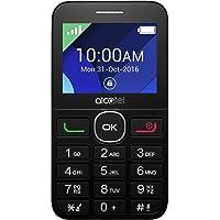 "Alcatel 2008G - Teléfono Móvil (Fácil uso, Pantalla de 2.4"" QVGA ,320x240, 2G, cámara trasera 2 Mpx, 8MB de RAM, 16MB de ROM, batería 1400mAh),  Blanco/Negro"