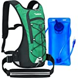 Tonitrus Hydration Backpack with 70oz Water Bladder, 2 Waist Pouch Water Pack for Man Women Kid, Lightweight Nylon Hydration