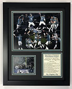 Legends Never Die Philadelphia Eagles Super Bowl 52 NFL Champions Collectible   Framed Photo Collage Wall Art Decor - 12