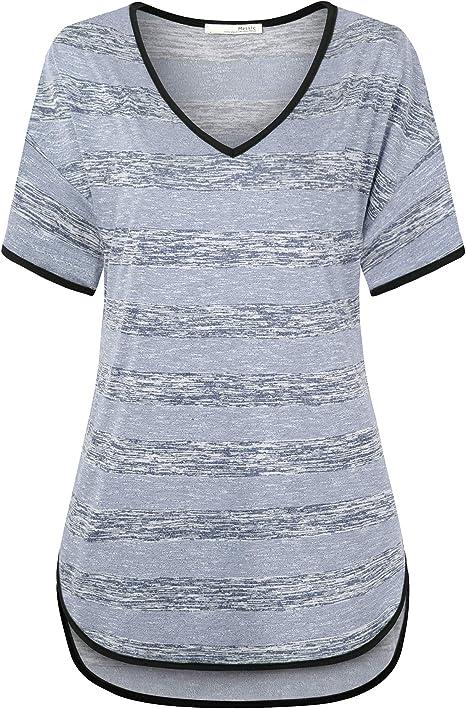 Chiffon Shirt Tops Womens Multicolor Floral Print Contrast Short Sleeve T-shirt