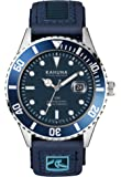 KAHUNA MENS BLUE DIAL SPORTS STYLE NYLON / PU RIP TAPE STRAP WATCH WITH 50 METERS WATER RESISTANT - KUV-0003G