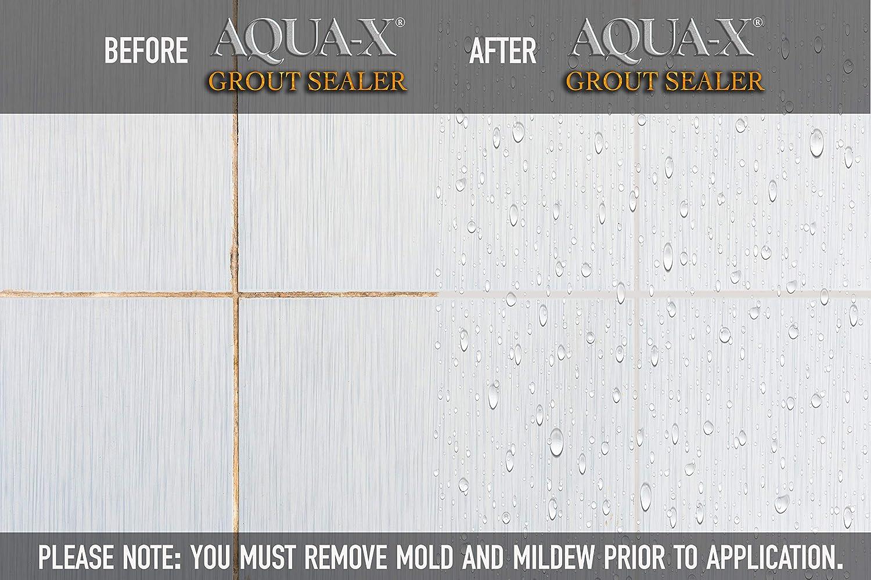 - 16 Oz AQUA-X Grout Sealer, Clear Grout Sealer, Commercial Grade