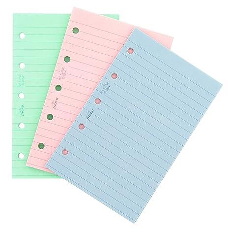 Filofax - Mini hojas de recambio para archivador (a rayas), varios colores