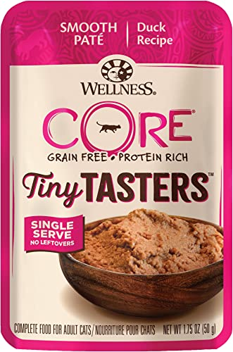 Wellness, Cat Food Tiny Tasters Duck, 1.75 Ounce Pack of 12