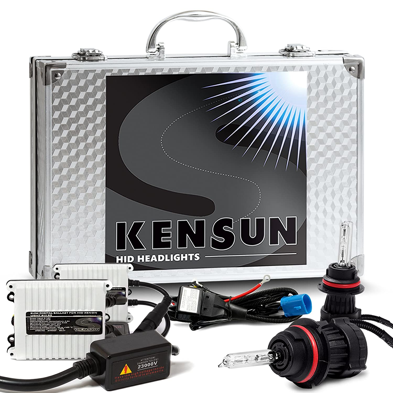 Kensun 55w HID Xenon Conversion Kit All Bulb Sizes and Colors with Digital Ballasts - 9007 (9004) (HB5) Bi-Xenon - 6000k Ken-kh-97b-60