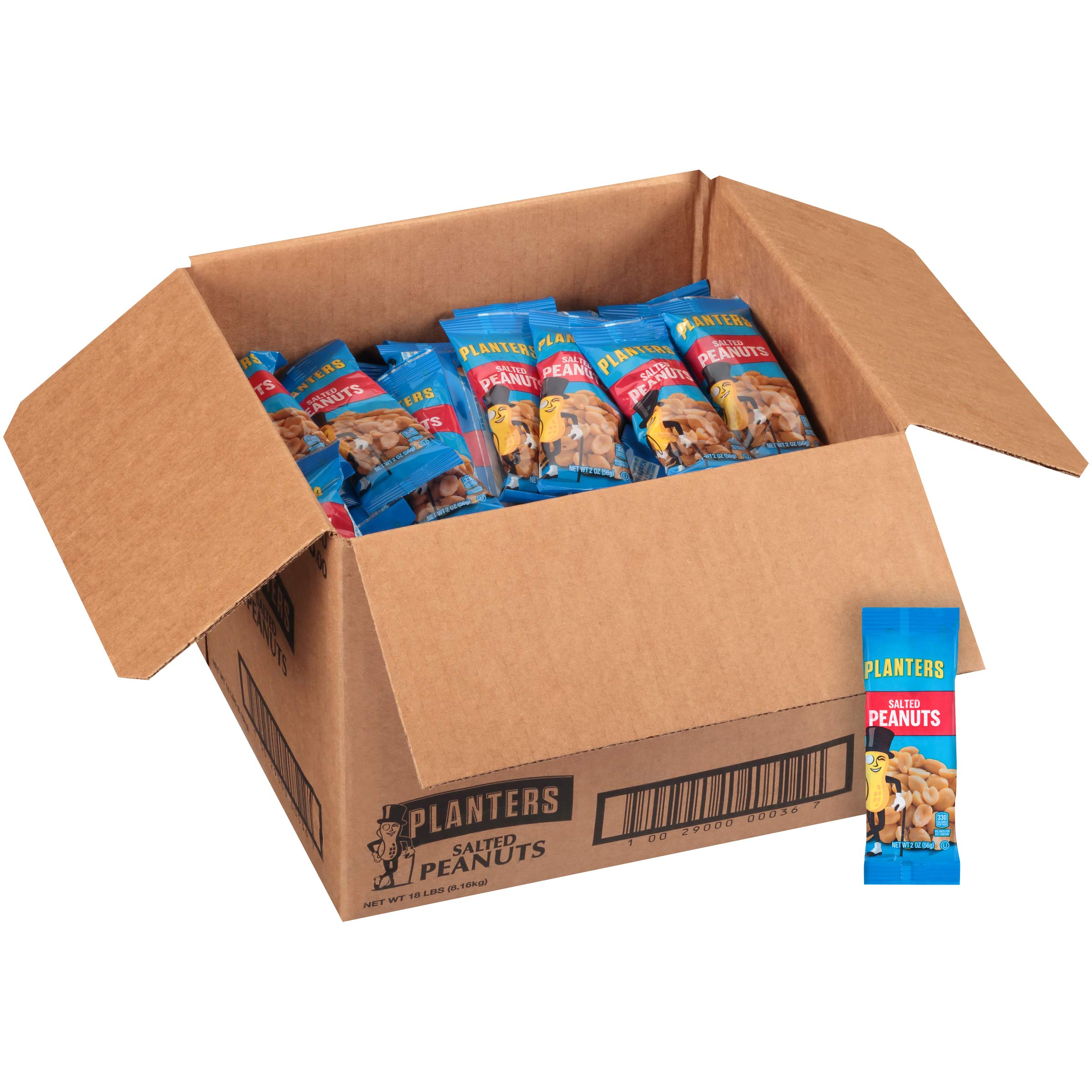 Planters Salted Peanuts Single Serve (2 oz Bags, Pack of 144) by Planters (Image #4)