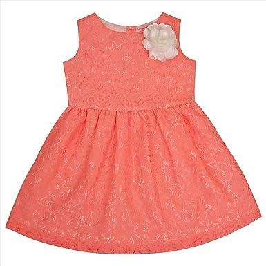 3c742c41f9ea4 CrayonFlakes Kids Wear Girls Net Sleeveless Frock Dress Pearl Necklace  Bracelet Set: Amazon.in: Clothing & Accessories