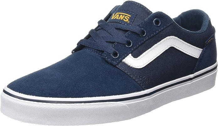 Vans Chapman Stripe Sneakers Damen Herren Unisex Marineblau(Navy)/Gold