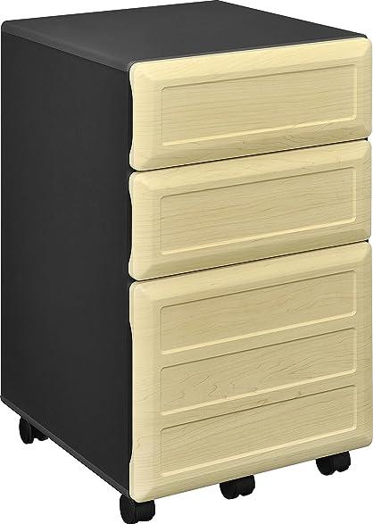 Amazon.com: Altra Benjamin Mobile File Cabinet, Natural/Gray ...