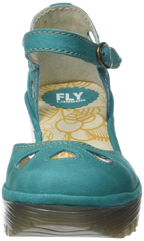 Fly Yuna London Damen Yuna Fly Pumps Grün (Verdigris) b24aed