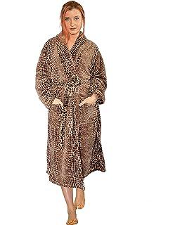 Home Soft Things Men   Women Bathrobe Printed Flannel Fleece Cloth Robe c125fb281