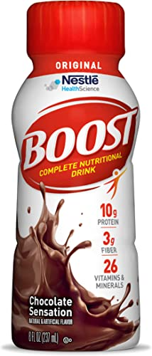 Boost Rich Chocolate Complete Nutritional Drink, 8 Ounce Bottles Pack of 6