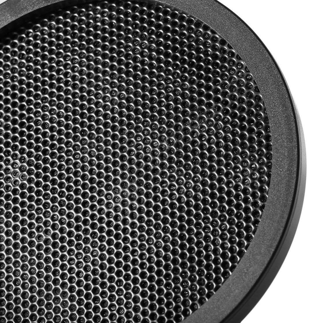 Color: Negro Laurelmartina PS-2 Double Layer Studio Micr/ófono Micr/ófono Pantalla Pop Filtro para grabaci/ón