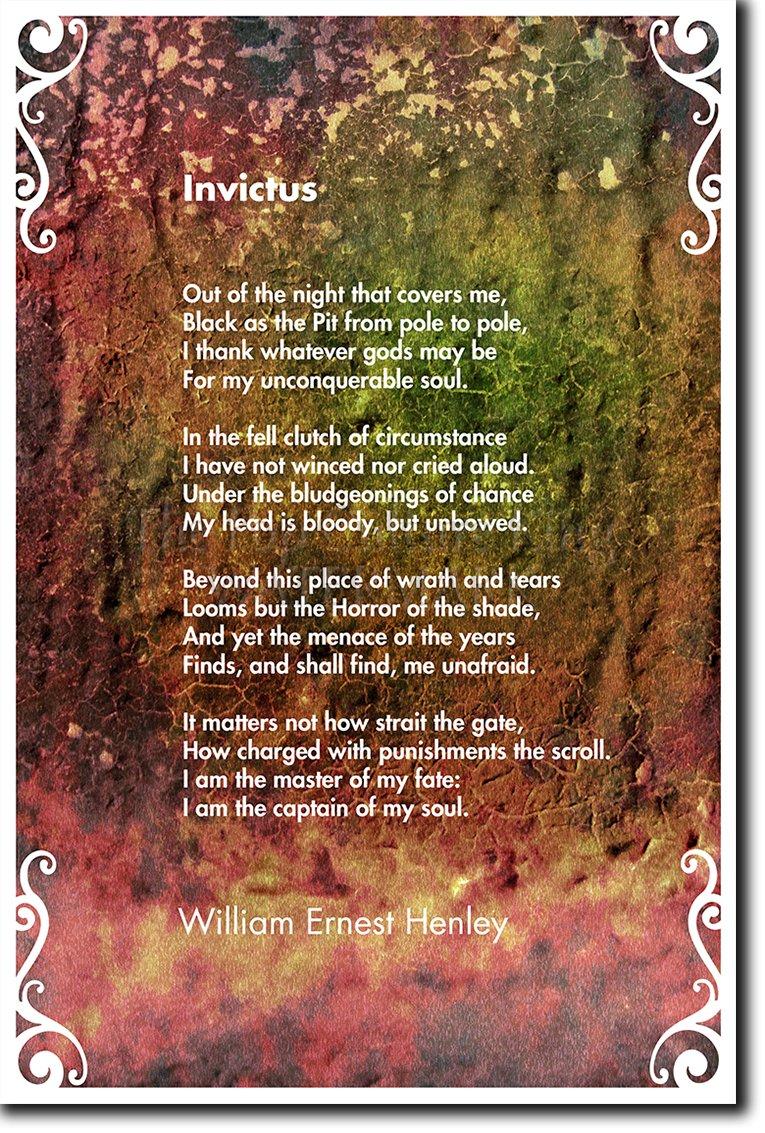 Invictus Poem William Ernest Henley Motivational Poem