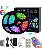L8star LED Color Changing Rope 32.8ft(10m) SMD 5050 Light Strips with Bluetooth Controller Sync to Music Apply for TV, Bedroom, Party and Home Decoration, RGB+White