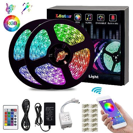 Amazon.com: Tira de luces LED, tira de luz de cambio de ...