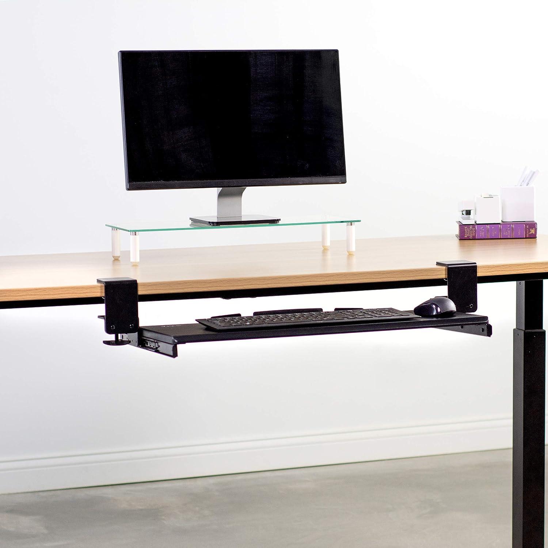 VIVO Extra resistente sujetador de teclado y ratón bajo escritorio bandeja deslizante 27