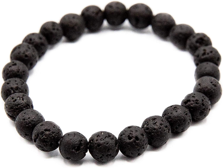 Natural Diffuser Bracelet | Stone Lava Rock Bracelet | Elastic Yoga Lava Beads | Men Women Yoga Bead Bracelet