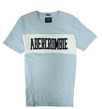 465ff7fd48f2 Abercrombie & Fitch Men's T-Shirt (Light Blue 1892, ...