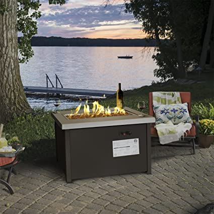 barton outdoor propane gas fire pit patiowcover etl certificated 50000btu - Fire Pit Patio