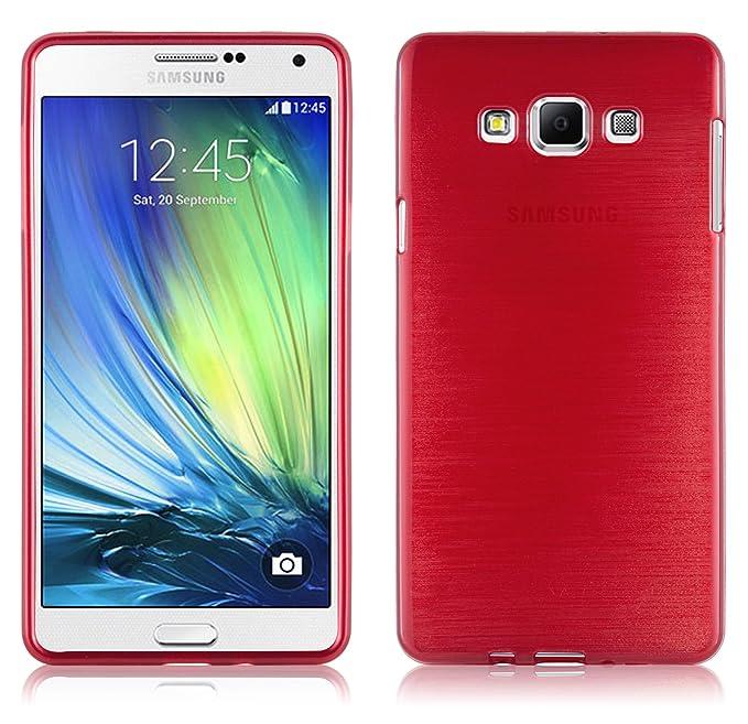 6 opinioni per Samsung Galaxy A7 2015 (5) Custodia silicone TPU in ROSSO CREMISI di Cadorabo