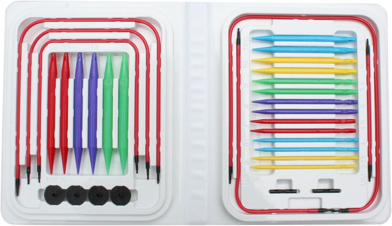 B00L93M3GG Denise Needles Denise Interchangeable Knitting Needles Kit, Blue Brights 81GEE4FvfoL