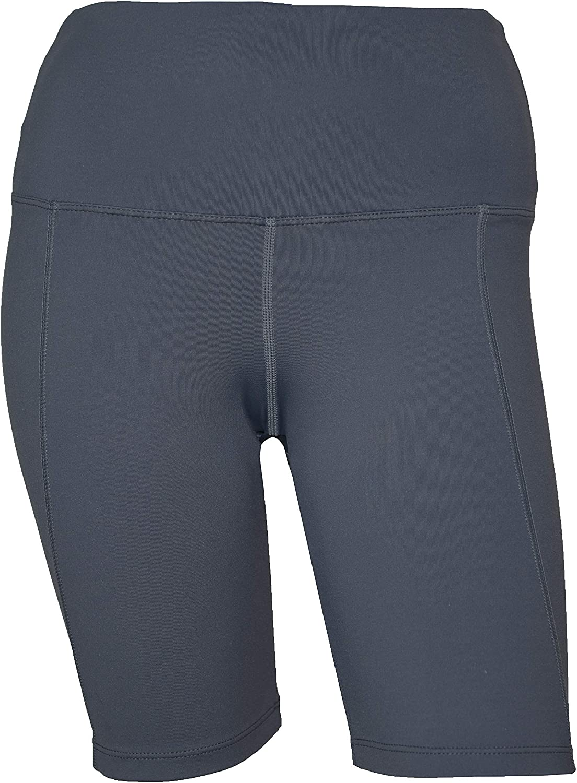 Private Island Women Hidden Pockets Plus Size UPF 50+ Swim Shorts Rash Guard