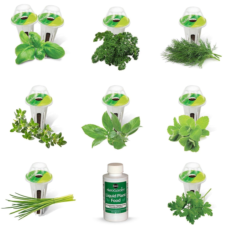 Miracle-Gro AeroGarden AeroGrow 809500-0205 Kit de capsules de graines d'herbes gourmets 9 capsules