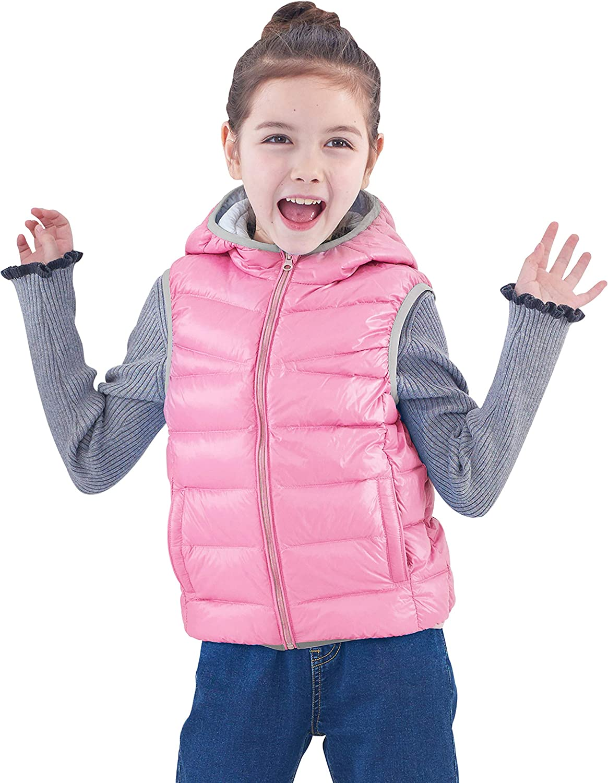 IKALI Piumino Gilet Bambini Ragazze Ragazzi Ultra Leggero Giacche e Cappotti Portatili Packable