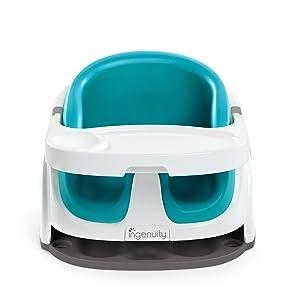 Ingenuity Baby Base 2-in-1 Seat (Peacock Blue)