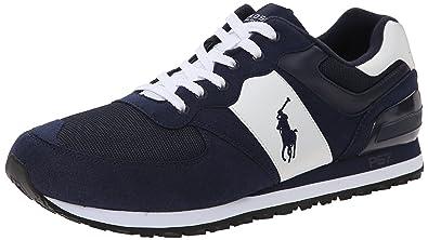 Polo Ralph Lauren Men's Slaton Pony Fashion Sneaker, Pacific Royal/White,  ...
