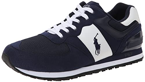 Polo Ralph Lauren Men\u0027s Slaton Pony Fashion Sneaker, Pacific Royal/White,  ...