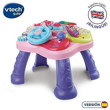 Vtech- Mesita Infantil Estrella Bilingüe, Color rosa (3480-181557)