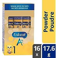 Enfamil A+ Infant Formula, Single Serve Powder, 17.6g, 16 packets