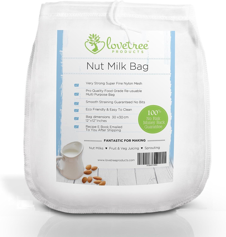 Compra Love Tree Products - Bolsa de leche de nueces XL tamaño 30 ...