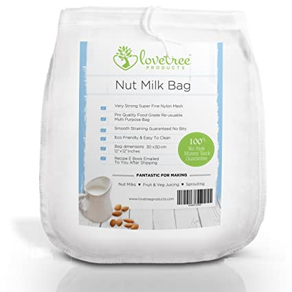 Love Tree Products - Bolsa de leche de nueces XL tamaño 30 x