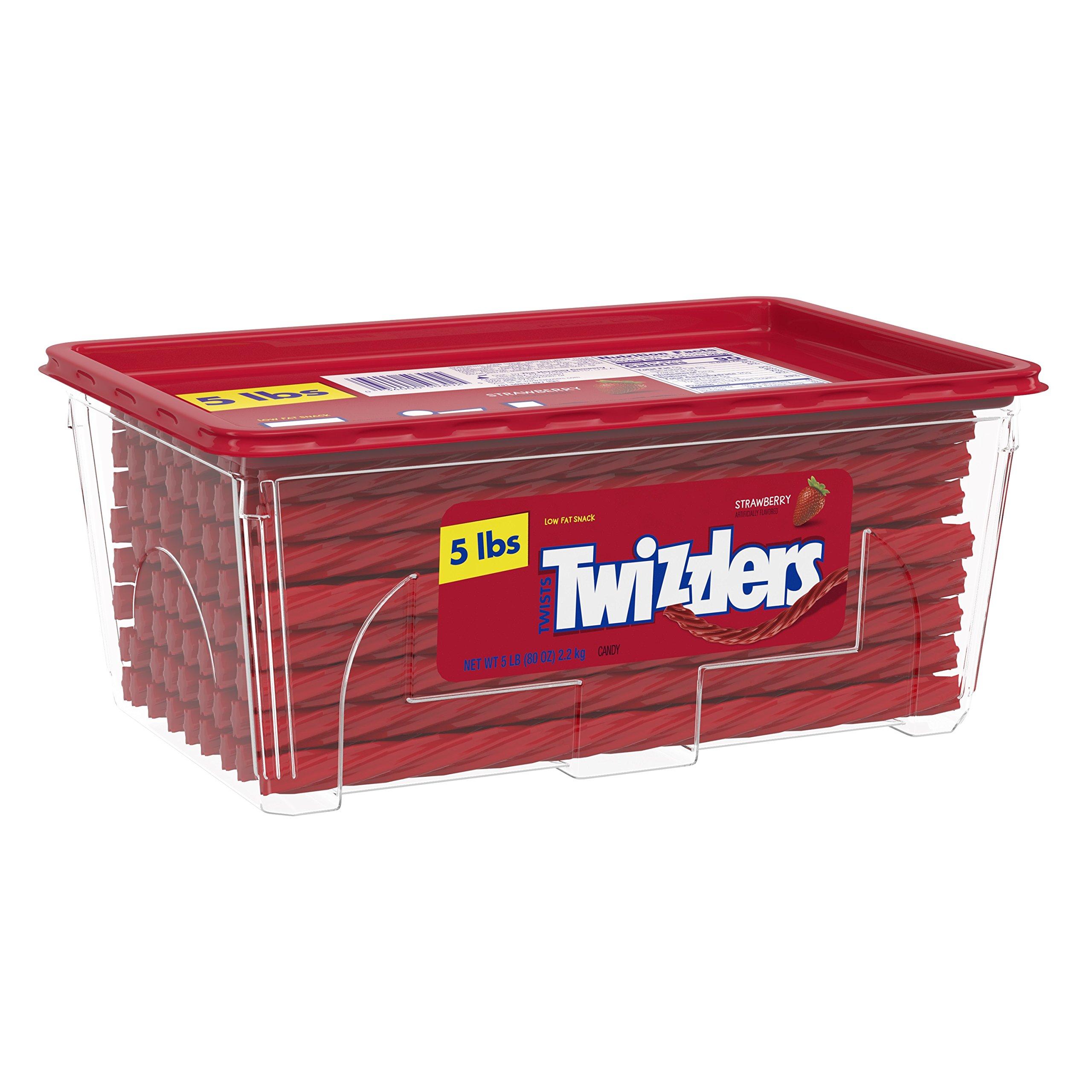 TWIZZLERS Licorice Halloween Candy, Strawberry, 5 Pound by Twizzlers